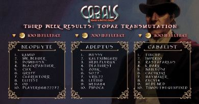 Topaz Transmutation week 3 results