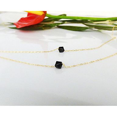 colar europeu dois negros gem minúsculo pingente (1 pc) – BRL R$ 13,65