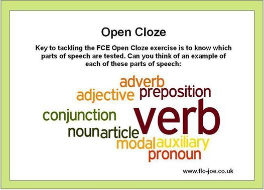 FCE Use of English: Open Cloze