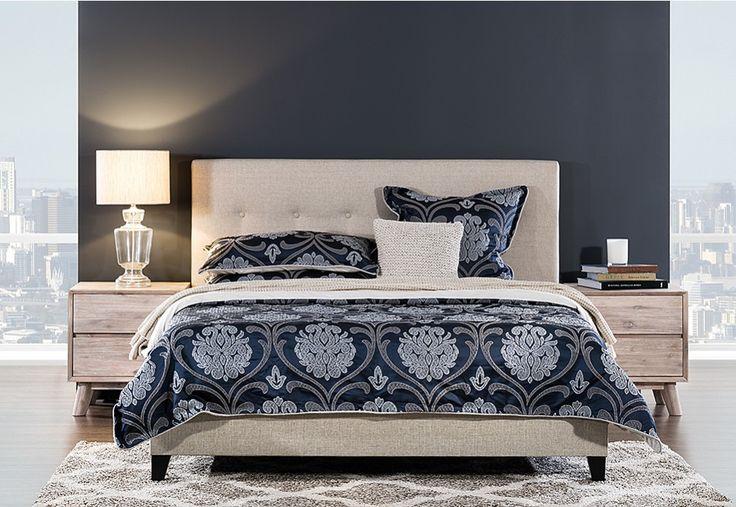 Arya Queen Bed | Super Amart