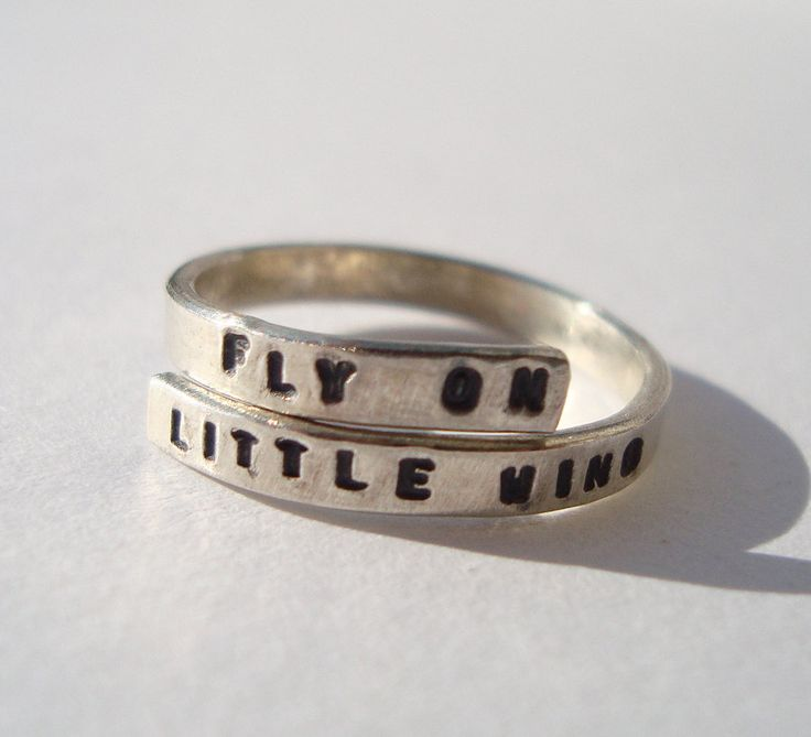 Jimi Hendrix Lyric Ring, 'Fly on Little wing'' Sterling Silver, 925 Handmade -Adjustable