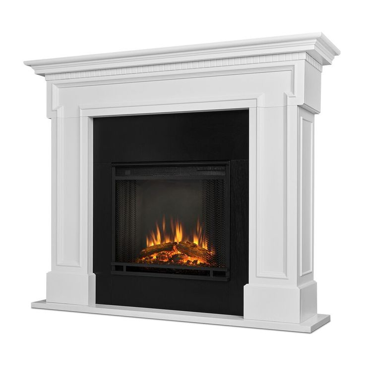 Real Flame Thayer Electric Fireplace - White