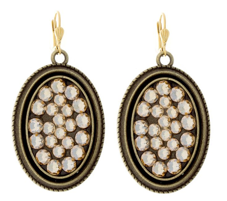 """Victoria Lynn """"Beach Bling"""" Earrings Crystal Golden Shadow from High Stylin' Boutique"""