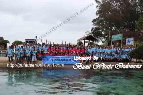 Fun Outing Group at Pulau Pelangi - Pulau Seribu
