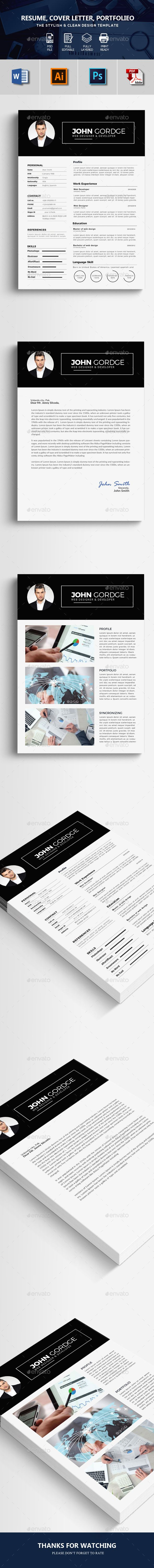 Professional Resume #modern resume #cv clean  • Download here → https://graphicriver.net/item/professional-resume/20612573?ref=pxcr