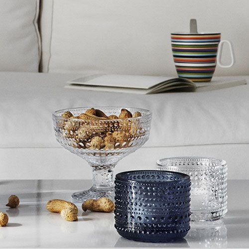 """iittala Kastehelmi """"Dewdrop"""" has a beautiful bubbled detailing on its pressed glass. 20% off through April 1st."""