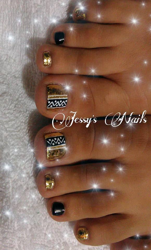 golden nails #uñas #doradas #oro #foil #espejo