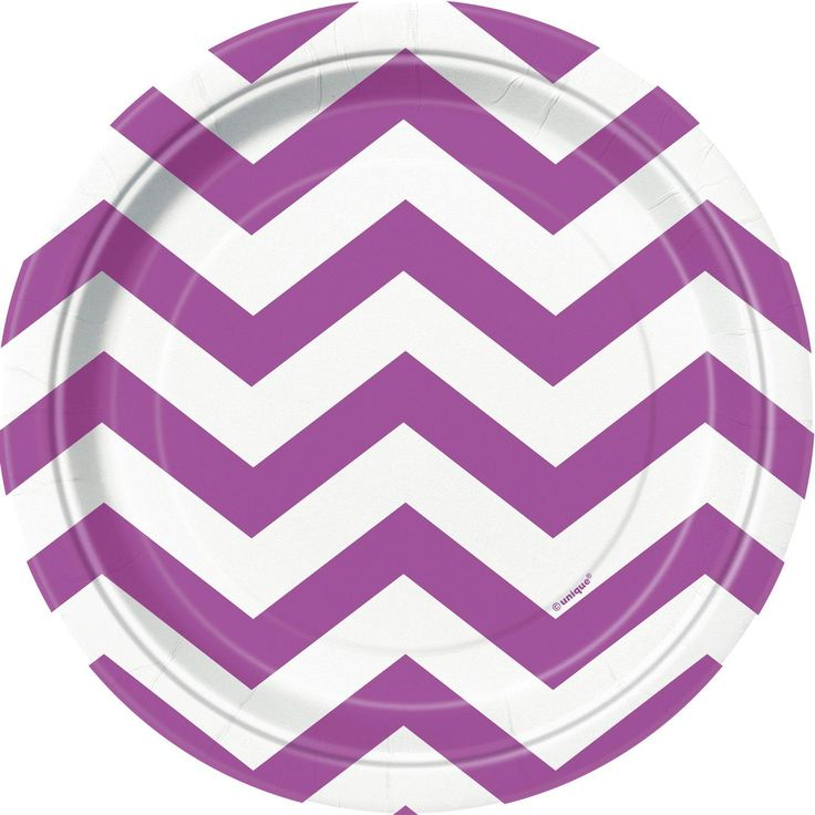 Awesome Party Supplies Pretty Purple Chevron Dessert Plates (8) just added...