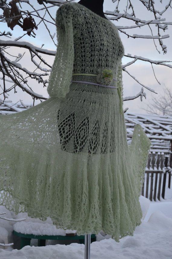Dress Blizzard. Mohair knit dress Super soft