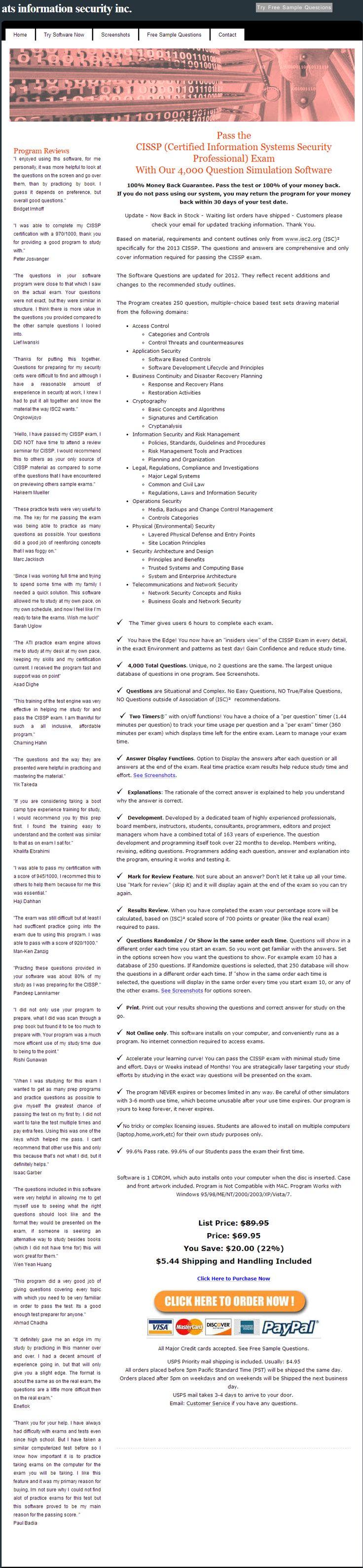 Cissp exam, cissp test, cissp practice exam, cissp study, cissp exam prep, cissp study guide, shon harris cissp, cissp boot camp, cissp book, cissp exam questions --> www.ioinfosecurity.com