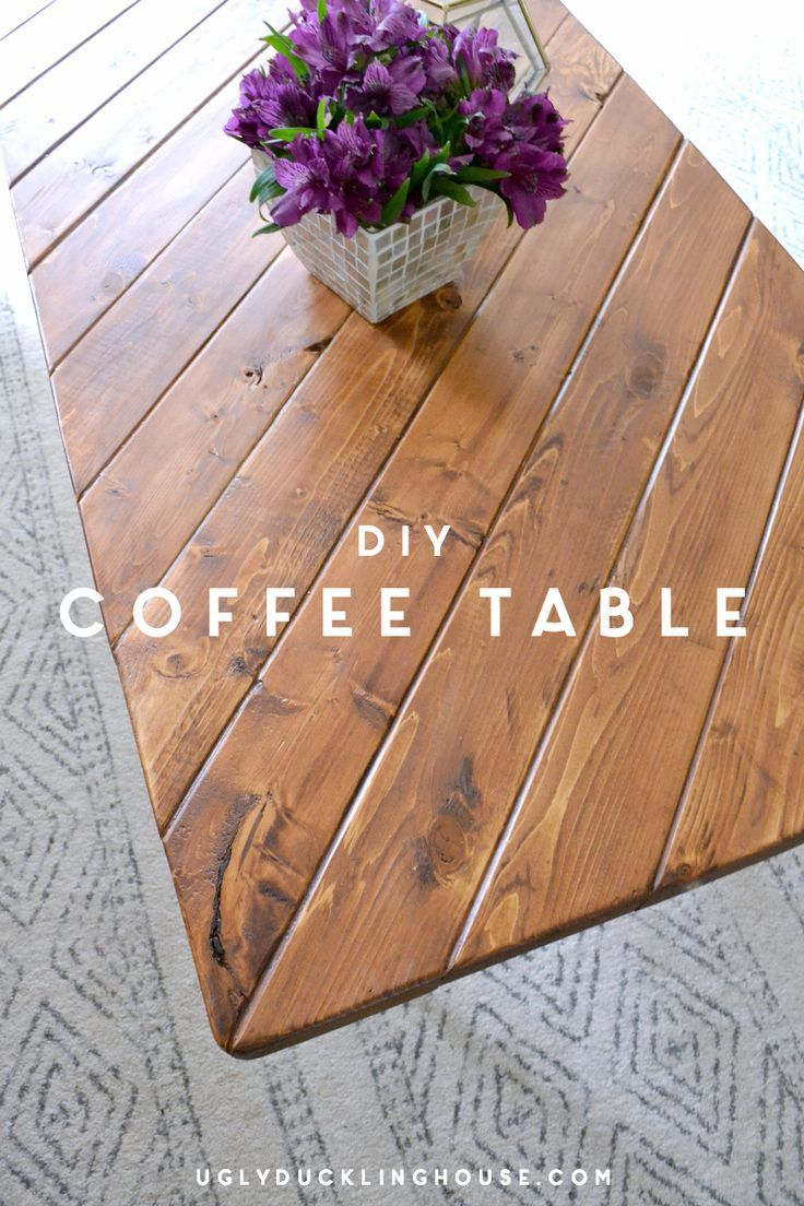 Uses scrap wood - cut all the pieces in as little as 15 minutes - easy DIY coffee table that anyone can do very quickly. Inspired by midcentury modern MCM, industrial, and minimalist styles.