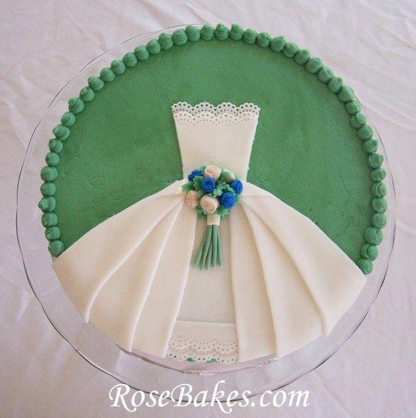 A Wedding Dress Bridal Shower Cake