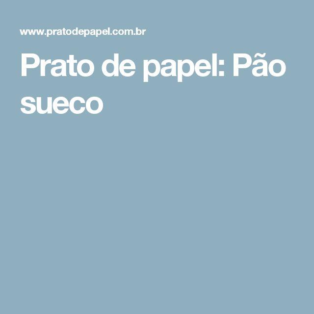 Prato de papel: Pão sueco