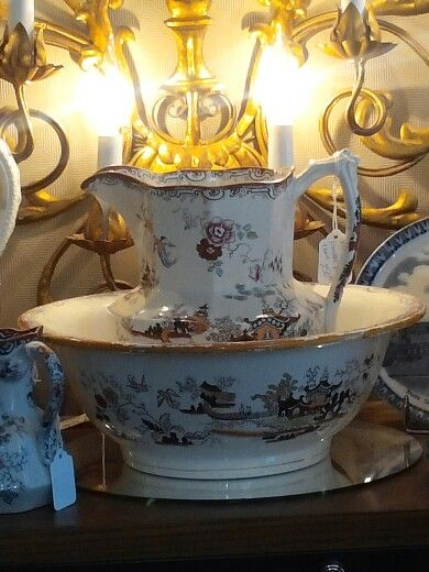 Antique Pitcher and Basin Wash Bowl