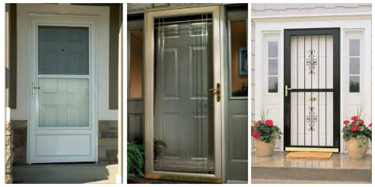 Security Storm Door With Glass And Screen