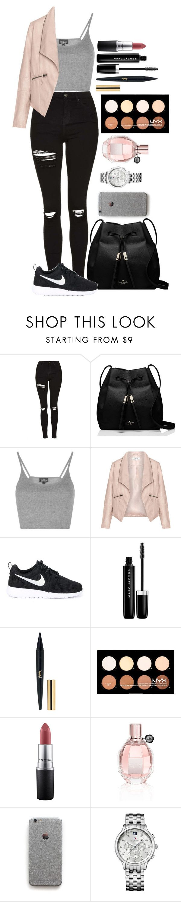 """""""Untitled #1477"""" by fabianarveloc on Polyvore featuring Topshop, Kate Spade, Zizzi, NIKE, Marc Jacobs, NYX, MAC Cosmetics, Viktor & Rolf and Tommy Hilfiger"""