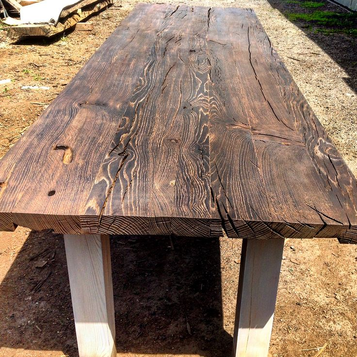 1700 years old Bog Oak Table Top