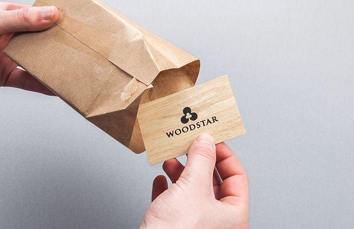 Woodstar - naamkaartjes   by Skinn Branding Agency