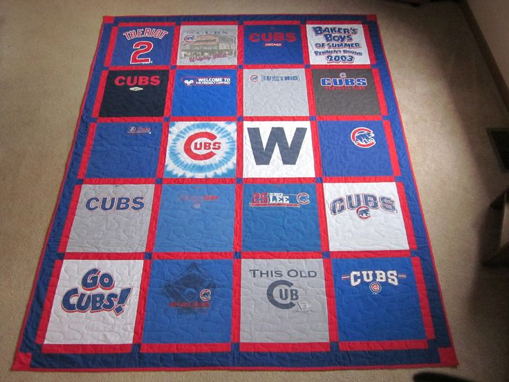 Chicago Cubs T Shirt Quilt Things I Ve Made Pinterest