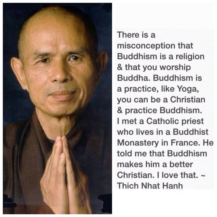 There is a misconception that Buddhism is a religion and that you worship Buddha...
