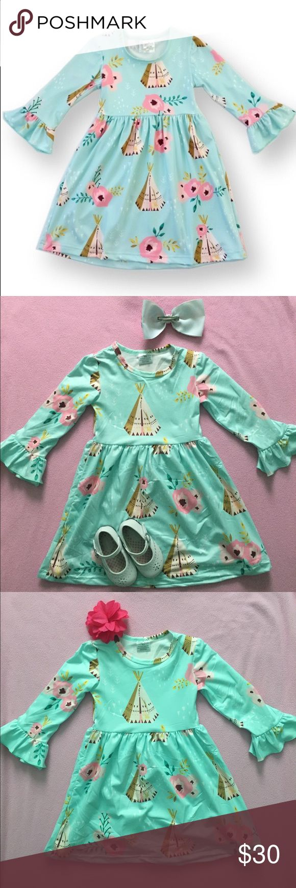 💗 Adorable! Floral Teepee dress- brand new! 💗 Brand new- looks so cute dressed up or down! Will accept reasonable offers and ship next day (except Sundays)!! Dresses Casual