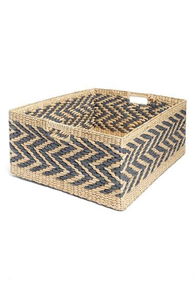 minta Levtex Rectangular Straw Basket available at #Nordstrom