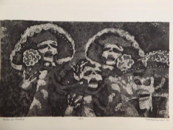 Los Dias de Muertos Parade!  Print