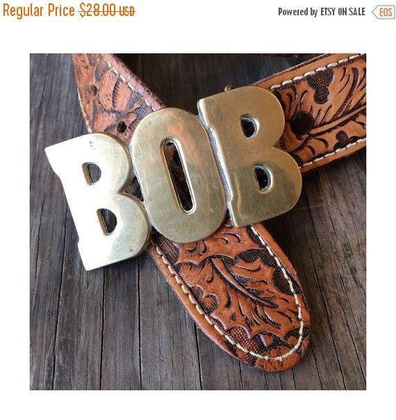 Sale Bob Belt Buckle  Vintage Brass Belt by JustSmashingDarling