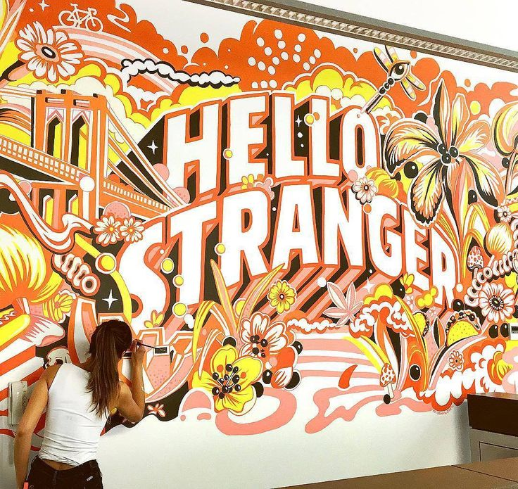 9334 best lettering and typography images on pinterest for Mural lettering