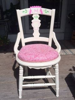girls desk furniture. antique chair turned little girls desk spray painted white and made a hot furniture