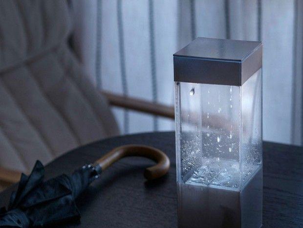 Ken Kawamoto a créé Tempescope, une boîte qui vous donne une représentation visuelle de la prévision météo de demain.La petite boîte peut-être connectée à