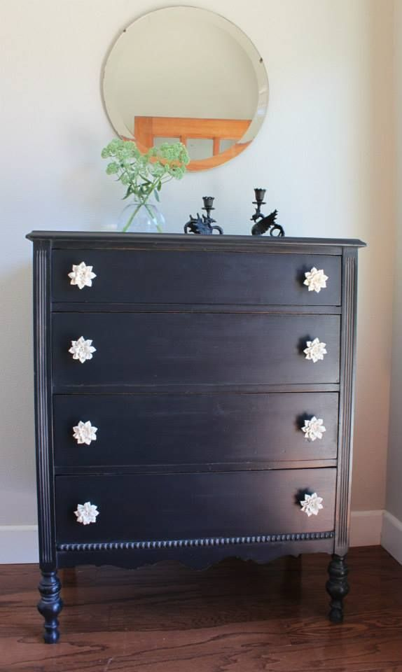 Black Antique Furniture best 25+ black painted dressers ideas on pinterest | black dresser