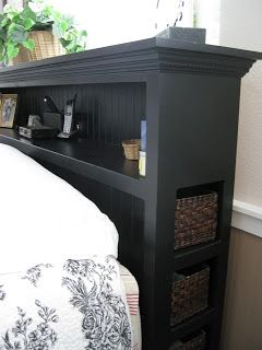 Headboard - bookcase and end storage on Life's Simple Pleasures
