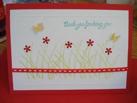 61.Scor-palを使って お花とちょうの Thank youカード   簡単手作りカード                                             Chocolate Card Factory