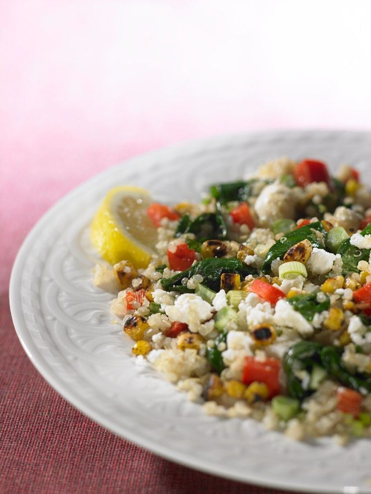Ginger Rose: Guest Post: Rose Reisman - Quinoa with Charred Corn, Bell Pepper & Spinach