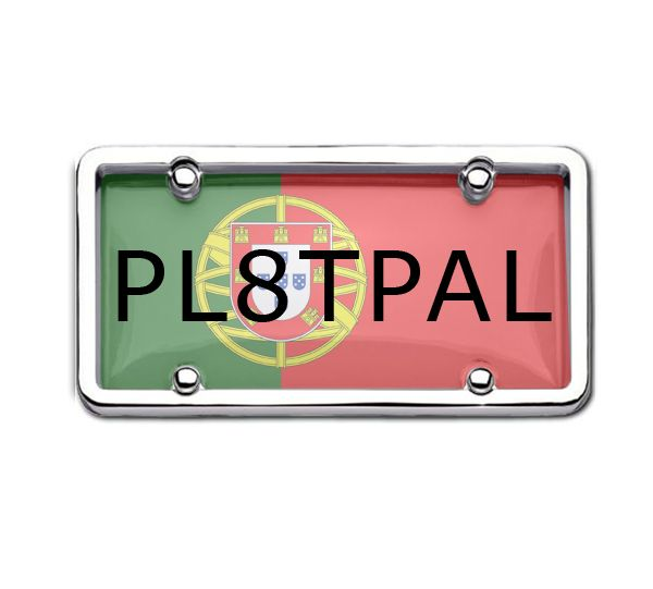 Portugal Won the EURO2016. Celebrate the Success with Portugal Attractive Car Number Plate Holders