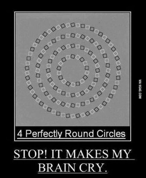demonstrative illusions optical brain crying 9gag