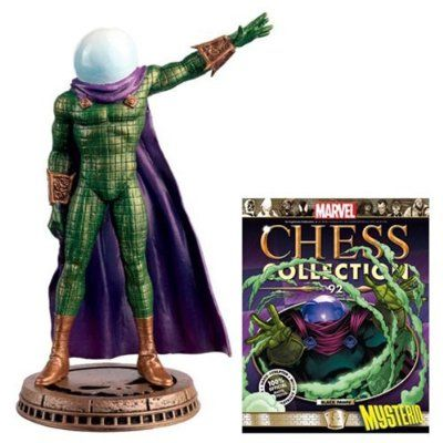 Marvel Amazing Spider-Man Mysterio Black Pawn Chess Piece with Collector Magazine #92