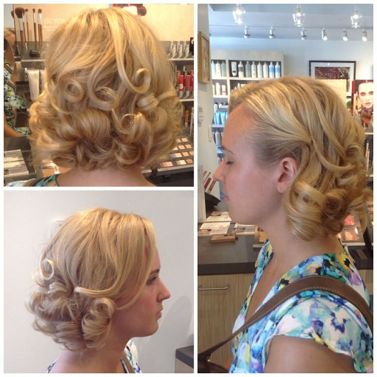 Old Hollywood glam #prom hair done by studio stylist Alaina at salon blunt !