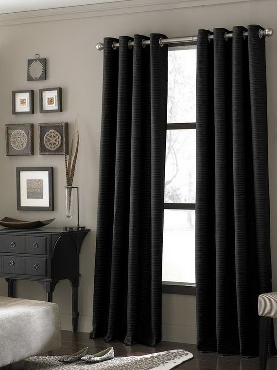 M s de 15 ideas fant sticas sobre cortinas negras en - Cortinas para ventanales grandes ...