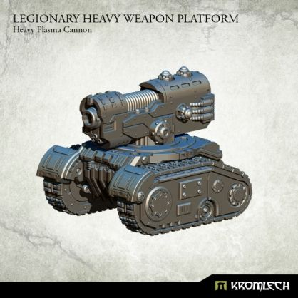 This set contains one resin Legionary Heavy Weapon Platform armed with Heavy Plasma Cannon. Designed to fit futuristic 28mm heroic scale vehicles. This model is approximately 53mm long, 44mm wide and 45mm height.