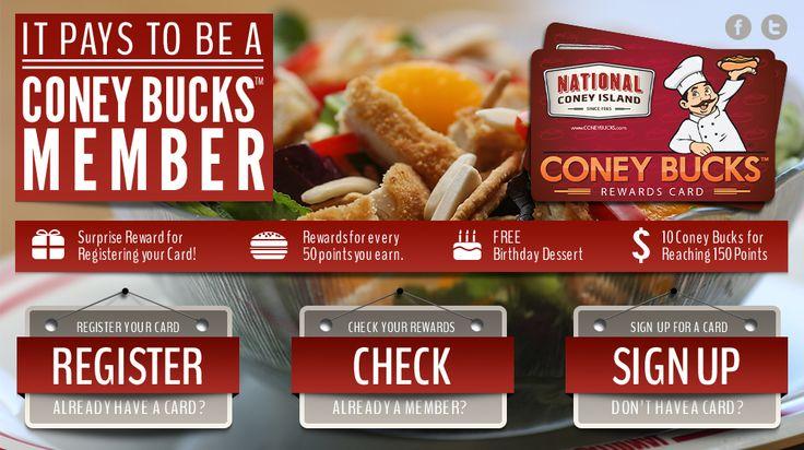 Coney Bucks Rewards Cards - National Coney Island