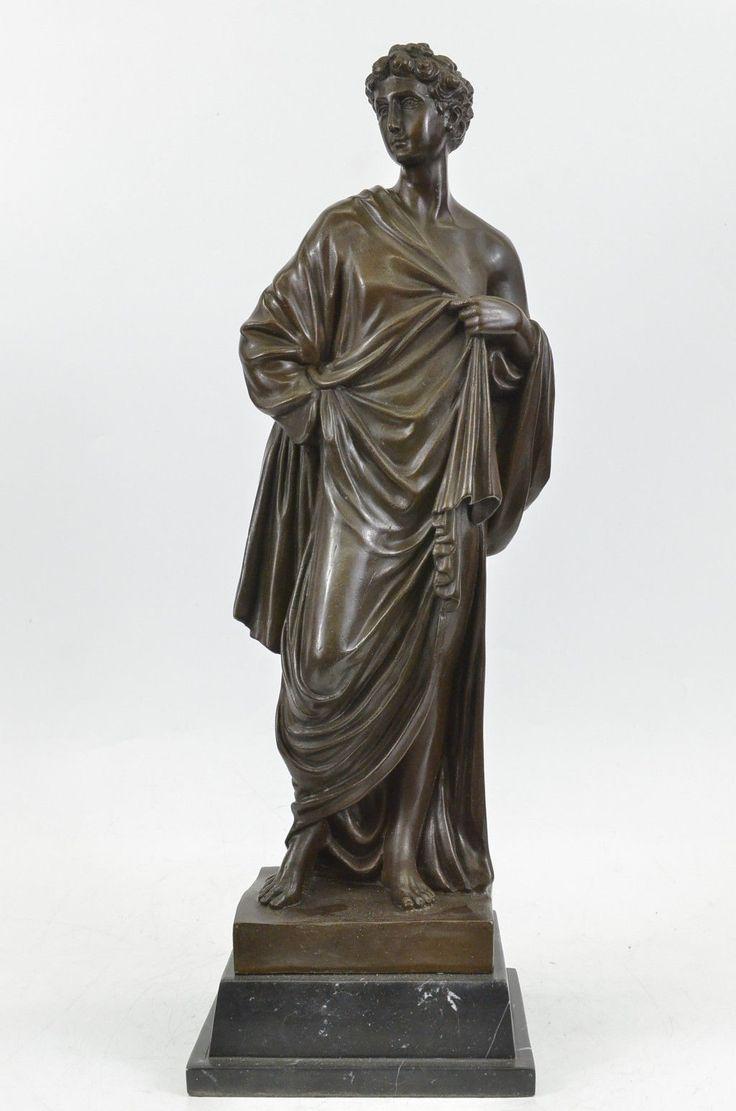 Signed Moreau Roman Gaius Julius Caesar Bronze Sculpture Marble Figurine Figure | eBay