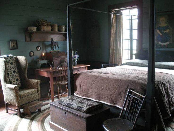 Primitive Bedroom Decorating Ideas | primitive bedroom - 266 Best Primitive Bedrooms Images On Pinterest Primitive Decor