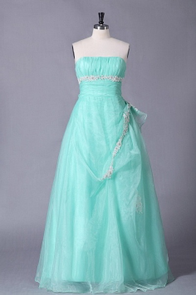 Strapless A-Line Organza Prom Gowns wr1558 - http://www.weddingrobe.co.uk/strapless-a-line-organza-prom-gowns-wr1558.html - NECKLINE: Strapless. FABRIC: Organza. SLEEVE: Sleeveless. COLOR: Green. SILHOUETTE: A-Line. - 139.59
