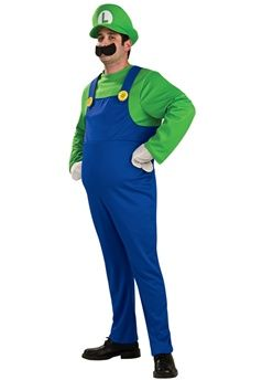 Rubies Adult Deluxe Luigi Costumes Contains Jumpsuit, inflatable belly, gloves, hat and moustaceh