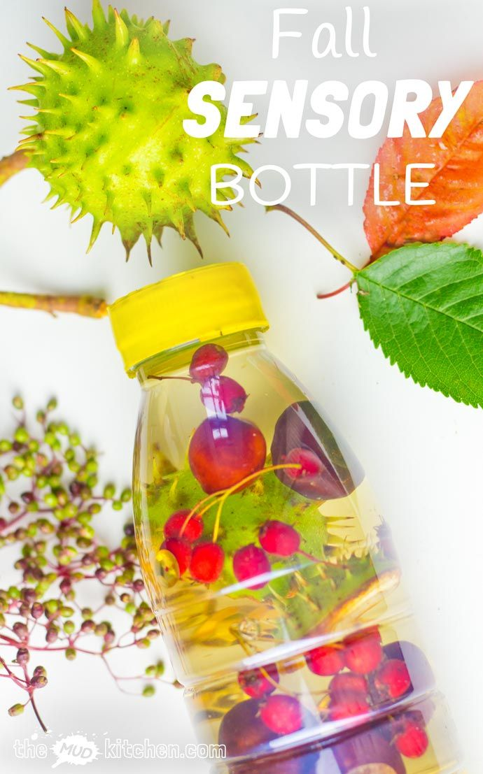 FALL SENSORY BOTTLES - It's easy to let babies and toddlers explore the colours, sounds, shapes and patterns of Fall safely with attractive homemade sensory bottles.