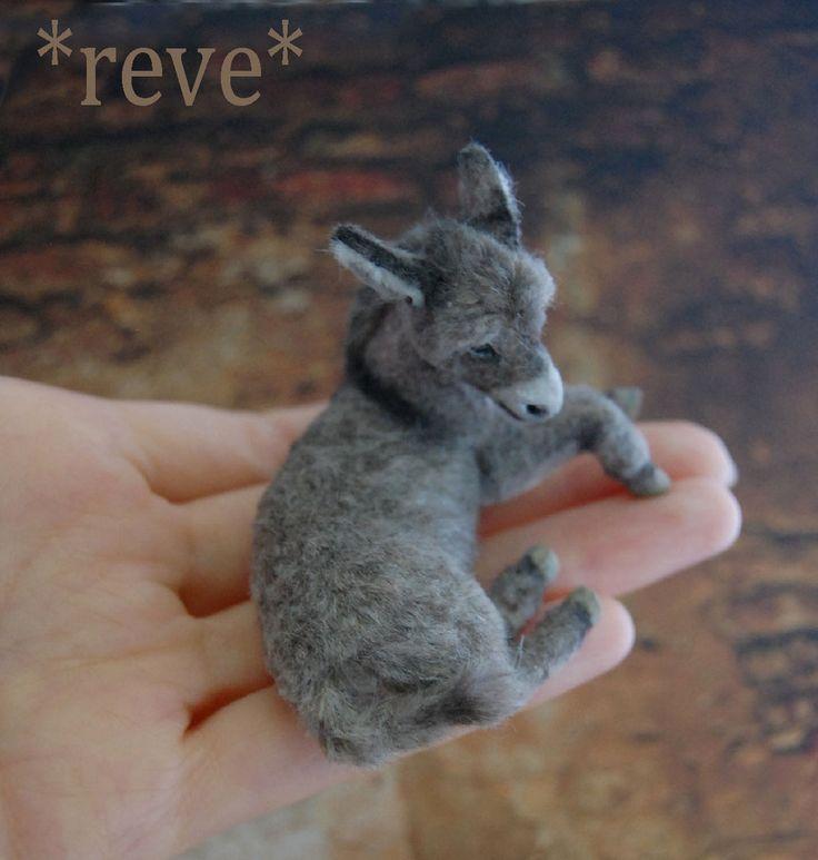 Miniature Donkey Foal Handmade Sculpture by ReveMiniatures on deviantART