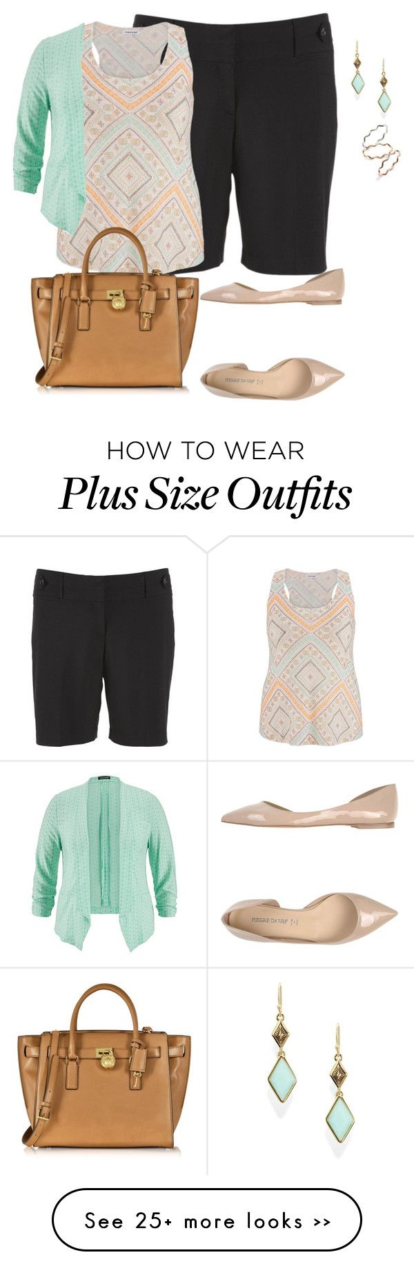 """easy plus size summer office look1"" by kristie-payne on Polyvore"