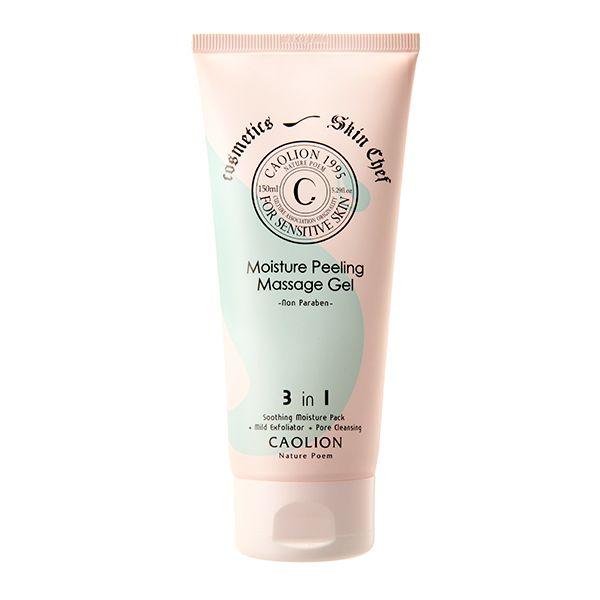 "Moisturizing Peeling Massage Gel  ""Exfoliate and moisturize dull, flaky skin to reveal a glowing complexion""  ◦Delicate gel textured exfoliator – perfect for sensitive skin. ◦Calming moisture pack + Gentle exfoliator + Excess sebum control + Hydration + Purification of pores.  #caolion #cosmetics #massage #moisture #hydrate #skincare #skin #natural #nature #korea #sensitiveskin #skinconcerns #winter #카오리온 #화장품 #천연 #자연 #클렌징 #마사지 #젤 #겨울 #피부고민 #피부"